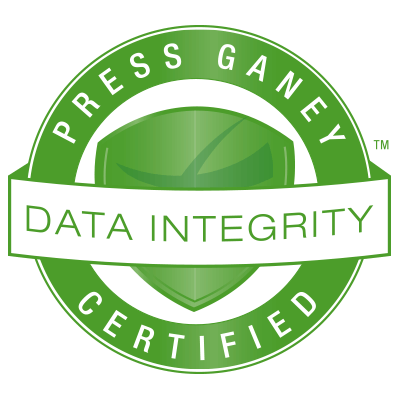Press Ganey Certified seal for Data Integrity